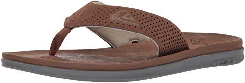 Quiksilver Men's Haleiwa Plus Sandal, Brown/Brown/Orange, 9 M US (Quiksilver Sandals Woven)