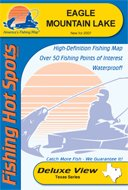 Eagle Mountain Lake Fishing Map by Fishing Hot Spots