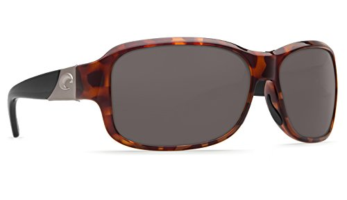 Costa Del Mar Inlet 580G Inlet, Retro Tortoise Frame with Black Temples Gray, Gray by Costa Del Mar