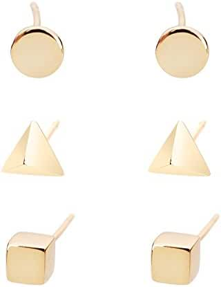 Lureme Classic Jewelry Brass 4mm Cube Square Stud Earrings for Women Girls (02004560-Geometric)