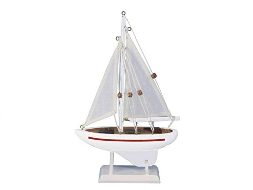 "Hampton Nautical Sailboat9-123 Wooden Intrepid Sailboat9-123 Sailboat 9"" - Sailboat Decoration - Sailboat9-123 Sailing Ship"