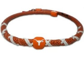 GameWear NCAA Texas Longhorns Classic Spiral Football Necklace