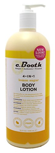 C.Booth 4-in-1 Multi-Action Body Lotion Lemon Sugar 32 Ounce (946ml) (3 Pack) ()