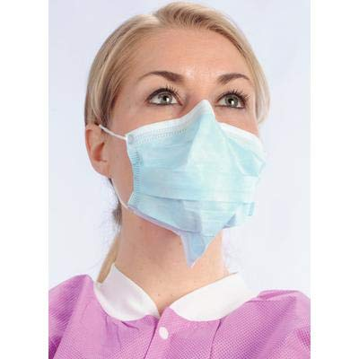 Protection Double Wire Face Mask - VLM Arch-Away Double Seal 3-in-1 Face Mask Sky Blue, Bx/50