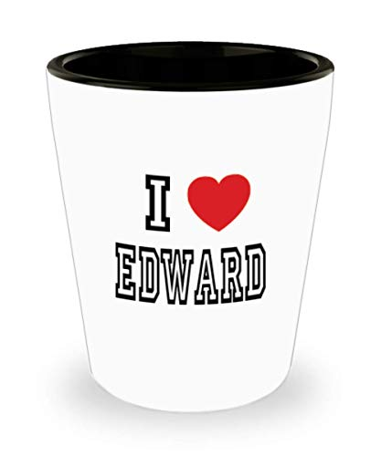 White Ceramic Shot Glass I Love Edward Mug Lover Gift Coffee Funny Idea Tea Cup Cute Ceramic Present Gag,al3124 -