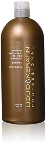 Liquid Keratin Professional Keratin Infusing Healthy Hair De-Frizz Shampoo, 33 Fluid Ounce