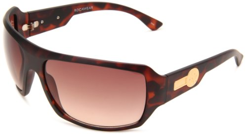 Rocawear Men's R1162 MTS Plastic Sunglasses,Tortoise Frame/Gradient Brown Lens,One - Sunglasses Rocawear Mens