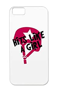 Pink Derby Hits Like A Girl Roller Shirt Gift Miscellaneous Sports For Iphone 5c TPU Shock Absorption Protective Hard Case