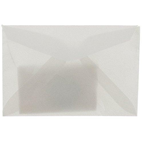 (JAM PAPER 3Drug Translucent Vellum Mini Envelopes - 2 5/16 x 3 5/8 - Platinum Silver - 25/Pack)