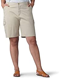 Women's Plus Size Flex-to-go Relaxed Fit Cargo Bermuda Short
