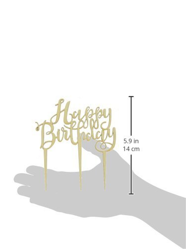 Ginger Ray BH-762 Happy Birthday Boho Wooden Cake Topper Decoration, Brown by Ginger Ray (Image #3)