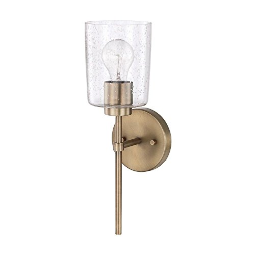 Capital Lighting 628511AD-449 Homeplace/Greyson - One Light Wall Sconce, Aged Brass Finish with Clear Seeded Glass