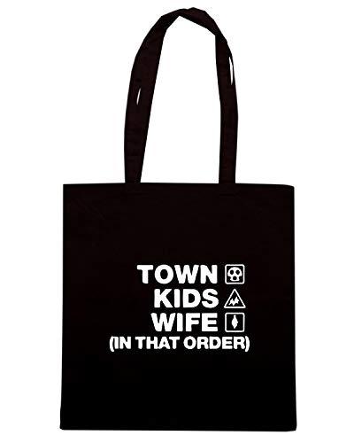 Speed Shirt Borsa Shopper Nera WC1138 CHELTENHAM TOWN KIDS WIFE ORDER DESIGN
