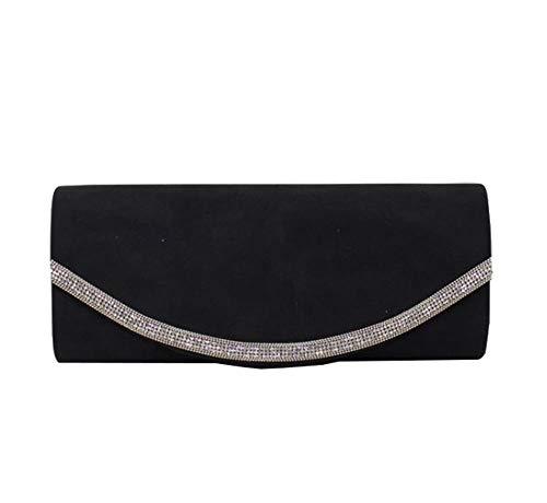 Ladies Pink Clutch Bag Decoration Diva Diamante Haute Black Dusty for qwx1EZq6