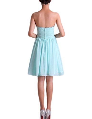 Brautjungferkleider Damen Sweetheart Fanciest Chiffon Kleider Blue Abendkleider Kurz Ballkleider Blue 7I67q1wx