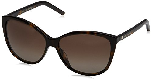(Marc Jacobs Women's Marc69s Cateye Sunglasses, Dark Havana/Brown Gradient Polarized, 58 mm)