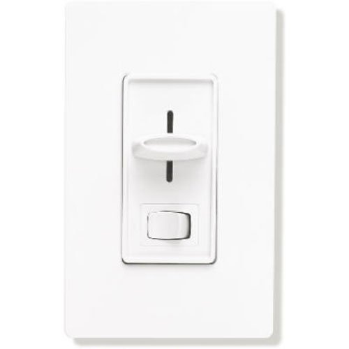 Lutron Electronics SFSQ-LFH-WH Slide-To-Off Fan Speed Control with On/Off Light, White ()