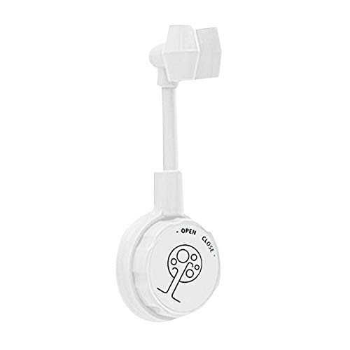 BiuBuy 360° Adjustable Rotatable Shower Head Wall Mount Holder, Strong Viscosity Handheld Showerhead Bracket, Easy to Install Shower Arm Bracket for Ceramic Wall (White, 1PC)