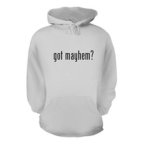 got mayhem? - A Nice Men's Hoodie Hooded Sweatshirt, White, - Mayhem Allstate
