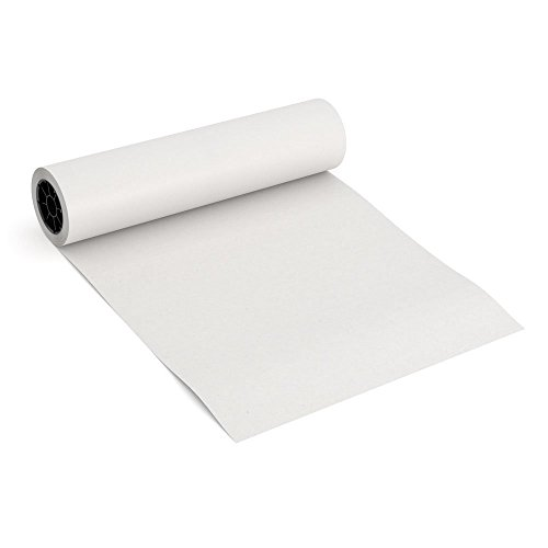 White Kraft Arts and Crafts Paper Roll - 18 inches by 175 Feet (2100 Inch) - Ideal for Paints, Wall Art, Easel Paper, Fadeless Bulletin Board Paper, Gift Wrapping Paper and Kids Crafts - Made in USA ()