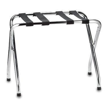 USTECH Chrome Folding Luggage Rack INC 71055