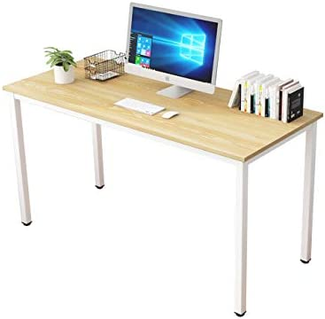 Cheap Soges 55.1 Inch Large Computer Desk Home Office Table Writing Desk Study Table Gaming Table Computer Workstations Light Oak LD-AC140LO modern office desk for sale