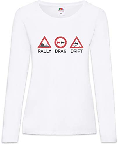 – Manga Mujer Xs Rally 2xl De Larga shirt Drift T Drag Women Tamaños 0qAqw1EP
