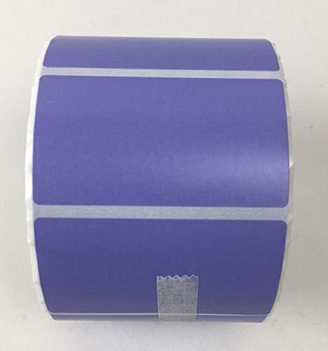4 Rolls 2.25 x 1.25 Direct Thermal Labels LAVENDER PURPLE 1000 Labels Per Roll Zebra/Eltron Printer Compatible 1