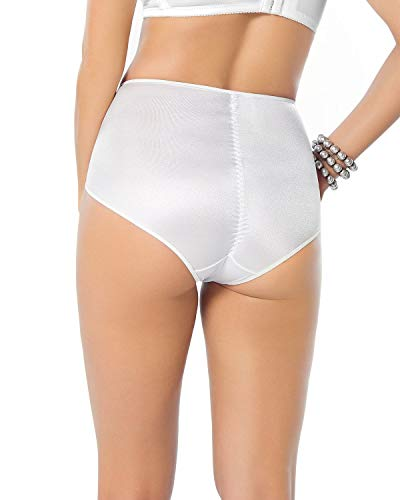 Leonisa Women 's High Waist Firm Tummy Control Compression Panty,White,Large