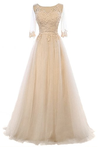 Prinzessin Ballkleid kleid Vickyben Linie Cocktail Damen A Schnuerung Champagne Tuell Abendkleid Party langes brautjungfer wwqUZXH1