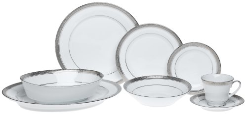 Platinum Fine Dinnerware - Noritake Crestwood Platinum - 50 piece set, service for eight