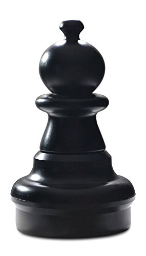 MegaChess Individual Chess Piece - Pawn - 16 Inches Tall - Black by MegaChess