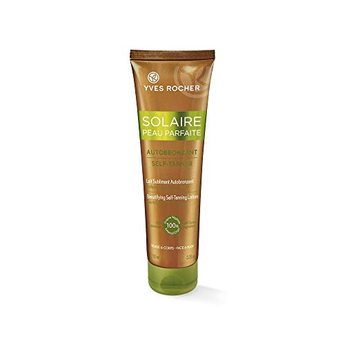 Yves Rocher Solaire Peau Parfaite Beautifying Self-Tanning Lotion for Face and Body, 100 ml./3.3 fl.oz. ()