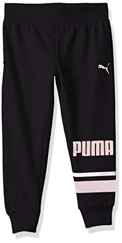 PUMA Toddler Girls' Fleece Joggers, Black, 3T