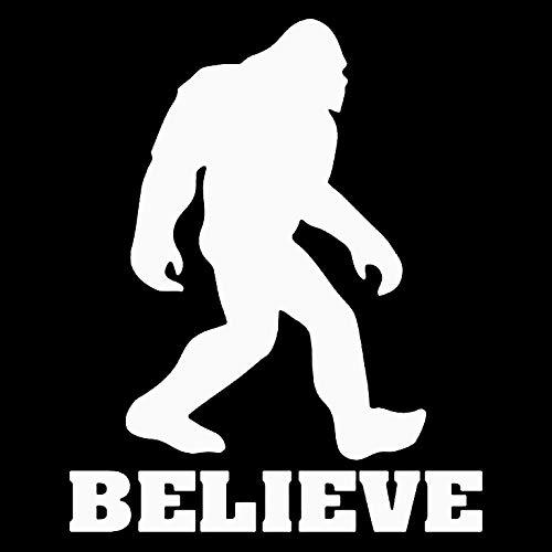 Makarios LLC Sasquatch Believe Bigfoot Cars Trucks Vans Walls Laptop MKR| White |5.5 x 4.5|MKR655 ()