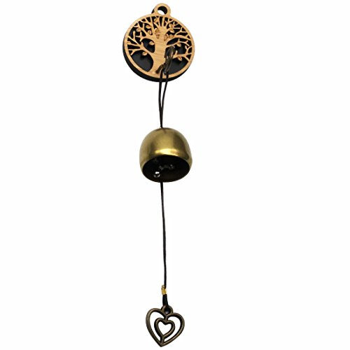 GARASANI Zinc, Steel Bell - Door Bell, Doorbell for Decoration, Front Door, Interior, Exterior Decor, Gold (Tree) by GARASANI
