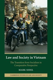 Law and Society in Vietnam: The Transition from Socialism in Comparative Perspective (Cambridge Studies in Law and Society) by Brand: Cambridge University Press