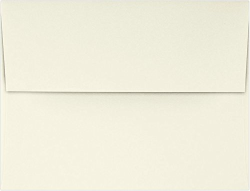 Crest Natural Envelope Classic - A2 Invitation Envelopes (4 3/8 x 5 3/4) - 70lb. Classic Crest Natural White (50 Qty.) | Perfect for Invitations, Announcements, Sending Cards, RSVP Cards | 4870-70NW-50
