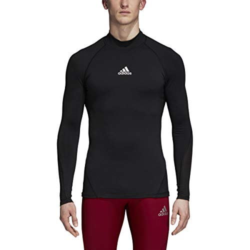 adidas Soccer Alphaskin Sport Long Sleeve Climawarm Tee, Black, Medium