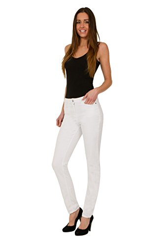 FashionLabels4Less Ex High Street Brand 7804 Autograph Relaxed Girlfriend Denim Jeans with Stretch White