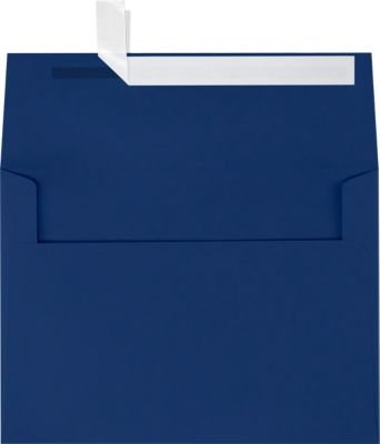 A7 Invitation Envelopes w/Peel & Press (5 1/4 x 7 1/4) - Navy Blue (1000 Qty) | Perfect for Invitations, Announcements, Sending Cards, 5x7 Photos | Printable | 80lb Paper | LUX-4880-103-1M by Envelopes.com