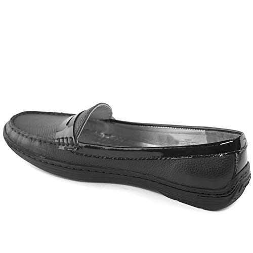 Driving Black Leather Joseph New Grainy Style York Atlantic Patent Loafer in Women's Marc Brazil Made 71pzW7x