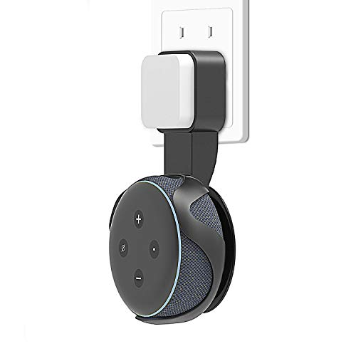 Outlet Wall Mount Holder Stand for Echo Dot 3RD Gen, A Space-Saving Solution Alex Holder for Smart Home Speakers in Kitchens, Bathroom & Bedroom