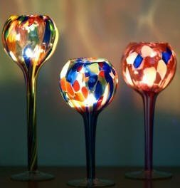 Candle Globe Table Top - Mouth Blown Glass by Milford - Mouth Collection Blown Glass