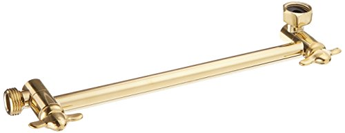 Kingston Brass K153A2 Plumbing Parts 10-Inch Hi-Lo Adjustable Shower Arm, Polished Brass ()