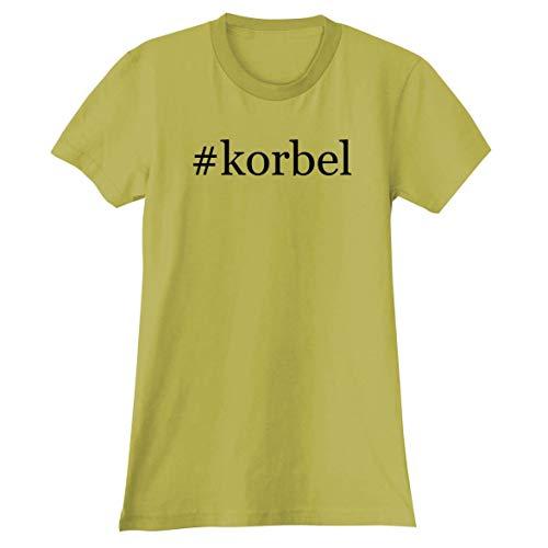 (The Town Butler #Korbel - A Soft & Comfortable Hashtag Women's Junior Cut T-Shirt, Yellow, Medium)