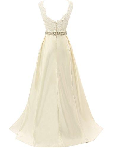 54ae4451b9d JAEDEN Vintage Wedding Dresses for Bride Simple Bridal Gown Cap Sleeve