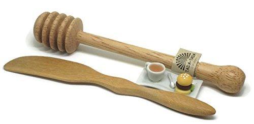 ta da Wooden Honey Dipper Stick & Wooden Butter Knife by ta da (Image #1)