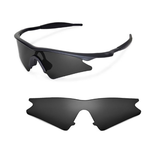 [Walleva Replacement Lenses for Oakley M Frame Sweep Sunglasses - Multiple Options Available (Black - Polarized)] (Oakley Frame Replacement Lenses)