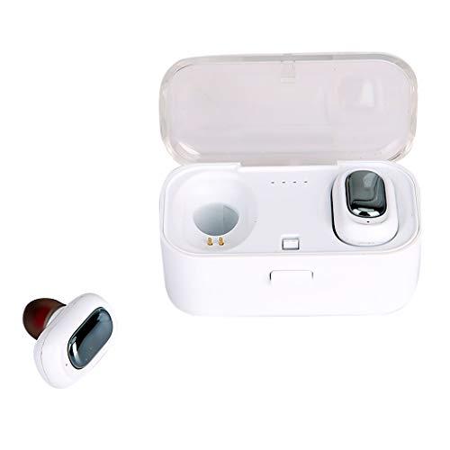 Bluetooth Earphone Ikevan TWS-L1 True HiFi Wireless Bluetooth 5.0 Headset Sport Earbuds Twins Ear Stereo (White) ()